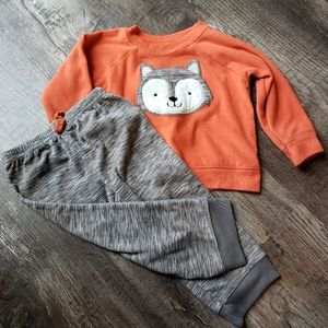 18m Fox Sweatshirt & Pant Set